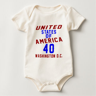 United States Of America 40 Washington D.C. Baby Bodysuit