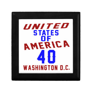 United States Of America 40 Washington D.C. Jewelry Boxes
