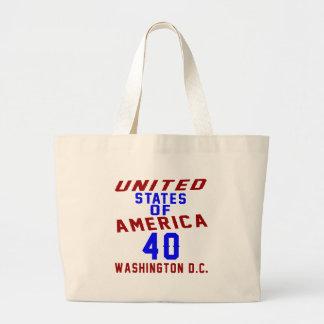 United States Of America 40 Washington D.C. Large Tote Bag