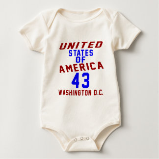 United States Of America 43 Washington D.C. Baby Bodysuit
