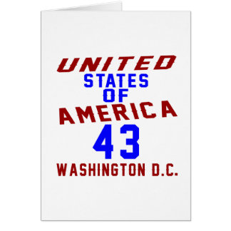 United States Of America 43 Washington D.C. Card