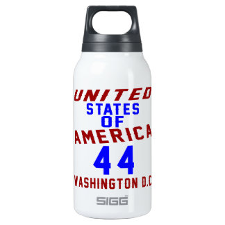 United States Of America 44 Washington D.C. Insulated Water Bottle