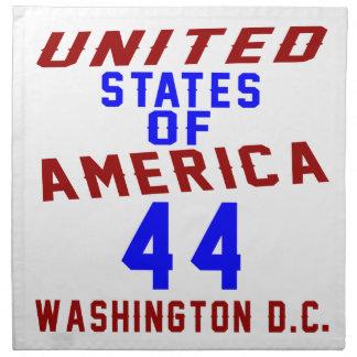 United States Of America 44 Washington D.C. Napkin