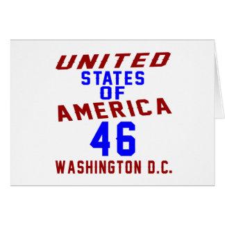 United States Of America 46 Washington D.C. Card