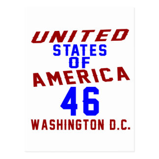 United States Of America 46 Washington D.C. Postcard