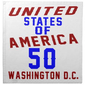 United States Of America 50 Washington D.C. Napkin