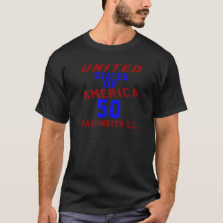 United States Of America 50 Washington D.C. T-Shirt