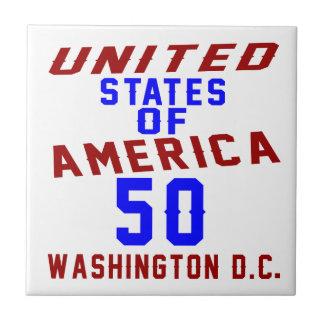 United States Of America 50 Washington D.C. Tile