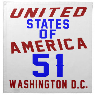 United States Of America 51 Washington D.C. Napkin