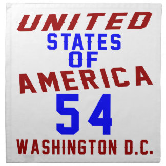 United States Of America 54 Washington D.C. Napkin