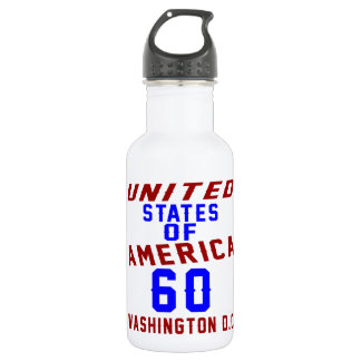 United States Of America 60 Washington D.C. 532 Ml Water Bottle