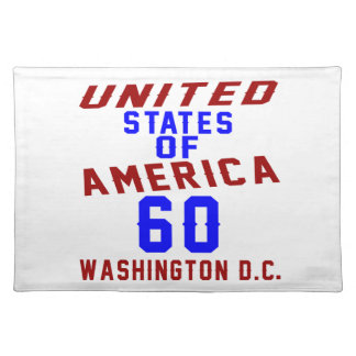 United States Of America 60 Washington D.C. Placemat