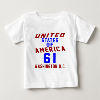 United States Of America 61 Washington D.C. Baby T-Shirt
