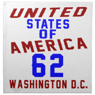 United States Of America 62 Washington D.C. Napkin
