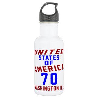 United States Of America 70 Washington D.C. 532 Ml Water Bottle