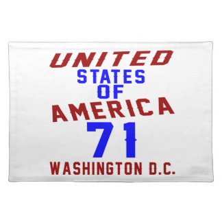 United States Of America 71 Washington D.C. Placemat
