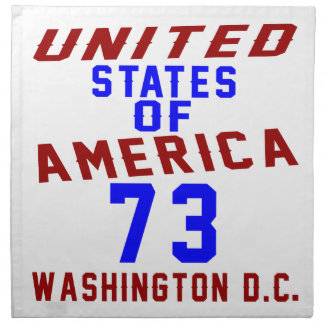 United States Of America 73 Washington D.C. Napkin