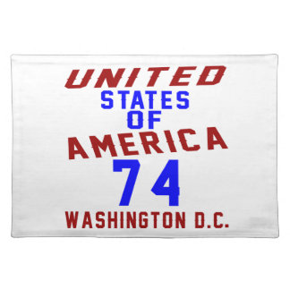 United States Of America 74 Washington D.C. Placemat