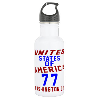 United States Of America 77 Washington D.C. 532 Ml Water Bottle