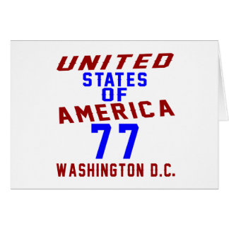 United States Of America 77 Washington D.C. Card
