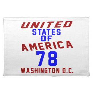 United States Of America 78 Washington D.C. Placemat
