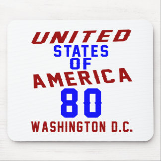 United States Of America 80 Washington D.C. Mouse Pad