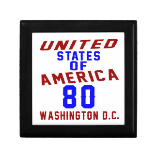 United States Of America 80 Washington D.C. Trinket Boxes