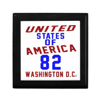 United States Of America 82 Washington D.C. Keepsake Boxes