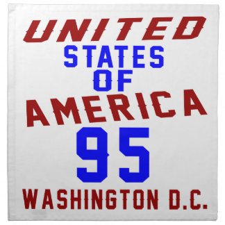 United States Of America 95 Washington D.C. Napkin