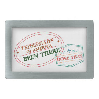 United States of America Been There Done That Belt Buckle