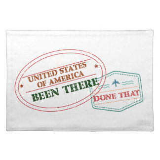 United States of America Been There Done That Placemat