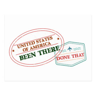 United States of America Been There Done That Postcard