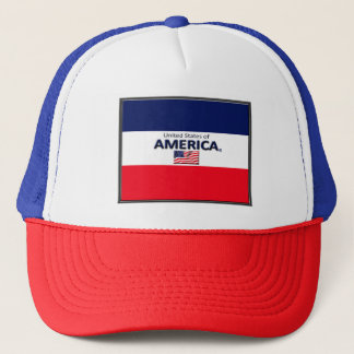 United States of America Colors Flag Trucker Hat