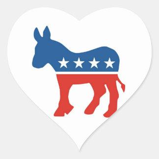 united states of america democrat party donkey usa heart sticker