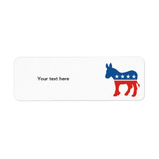 united states of america democrat party donkey usa return address label