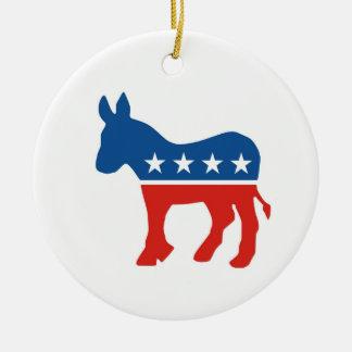 united states of america democrat party donkey usa round ceramic ornament