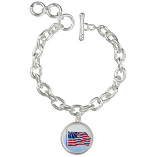 United States of America flag in the wind Bracelets