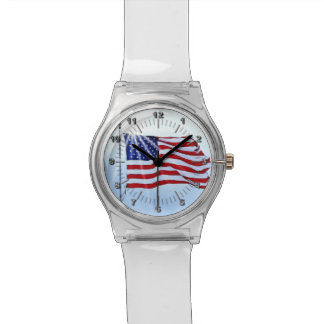 United States of America flag in the wind Watches