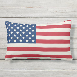 United States of America Flag | Patriotic Lumbar Pillow
