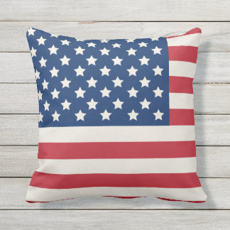 United States of America Flag | Patriotic Throw Pillow