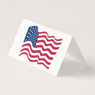 united states of america flag waving symbol card