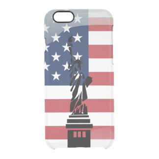 United States of America glossy flag Clear iPhone 6/6S Case