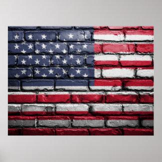 United States Of America Graffiti Poster