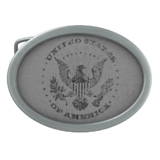 United States of America Grunge Belt Buckle