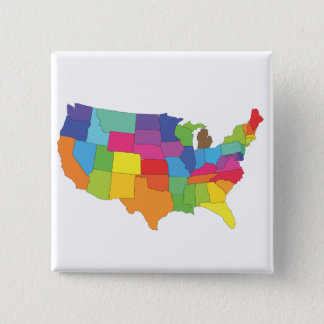 united states of america map 2 inch square button