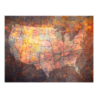 United States of America Map Photo