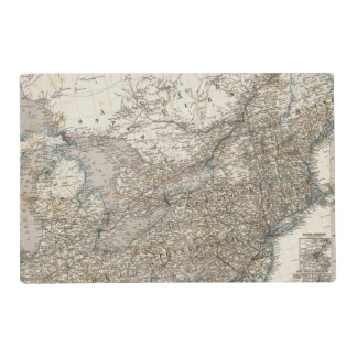 United States of America North east Laminated Placemat