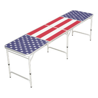 United States of America Patriotic Pong Table