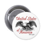 United States of America Pinback Buttons