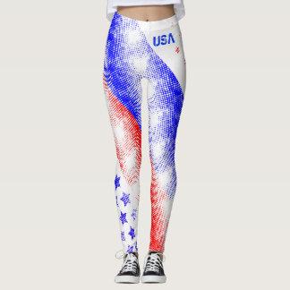 UNITED STATES OF AMERICA RED WHITE & BLUE USA LEGGINGS